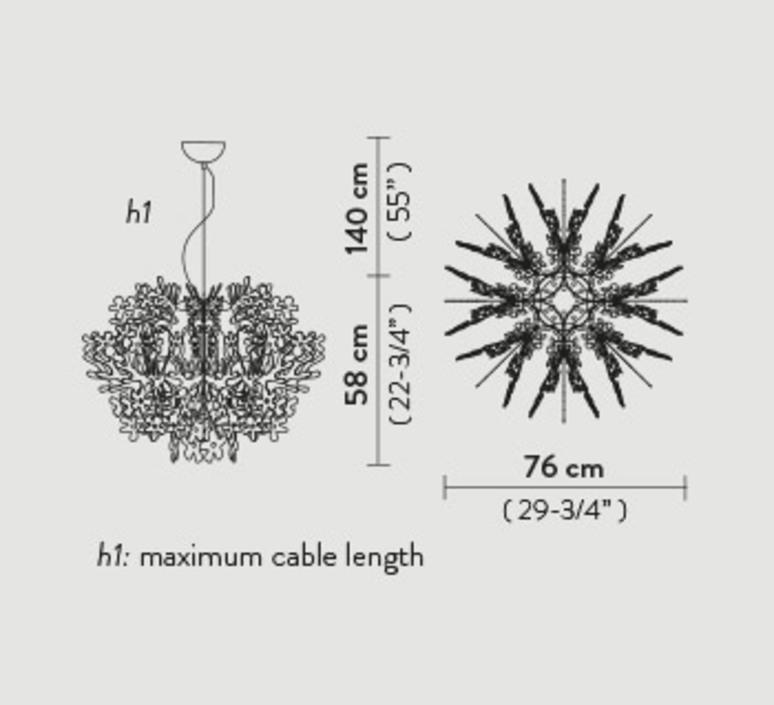 Fiorella nigel coastes suspension pendant light  slamp fio014sos0000w  design signed 46000 product