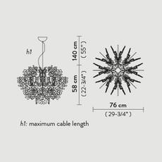 Fiorella nigel coastes suspension pendant light  slamp fio014sos0000w  design signed 46000 thumb