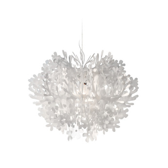 Suspension fiorella blanc led o76cm h58cm slamp normal
