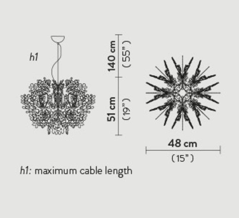 Fiorella mini nigel coastes suspension pendant light  slamp fio14sos0002s 000  design signed 46337 product