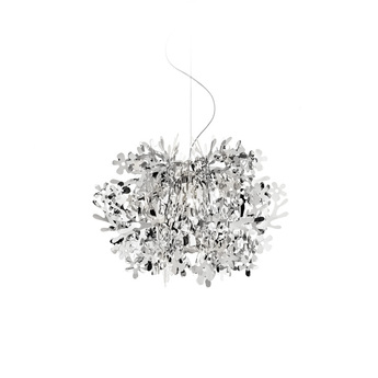 Suspension fiorella mini argent o48cm h51cm slamp normal