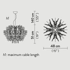 Fiorella mini nigel coastes suspension pendant light  slamp fio14sos0002w 000  design signed 46329 thumb
