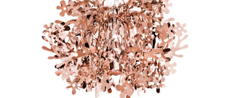 Suspension fiorella mini cuivre o48cm h51cm slamp normal