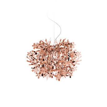 Suspension fiorella mini cuivre o48cm h51cm slamp normal