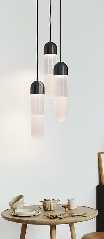 Suspension firefly transparent noir o10 8cm h47 5cm mater normal