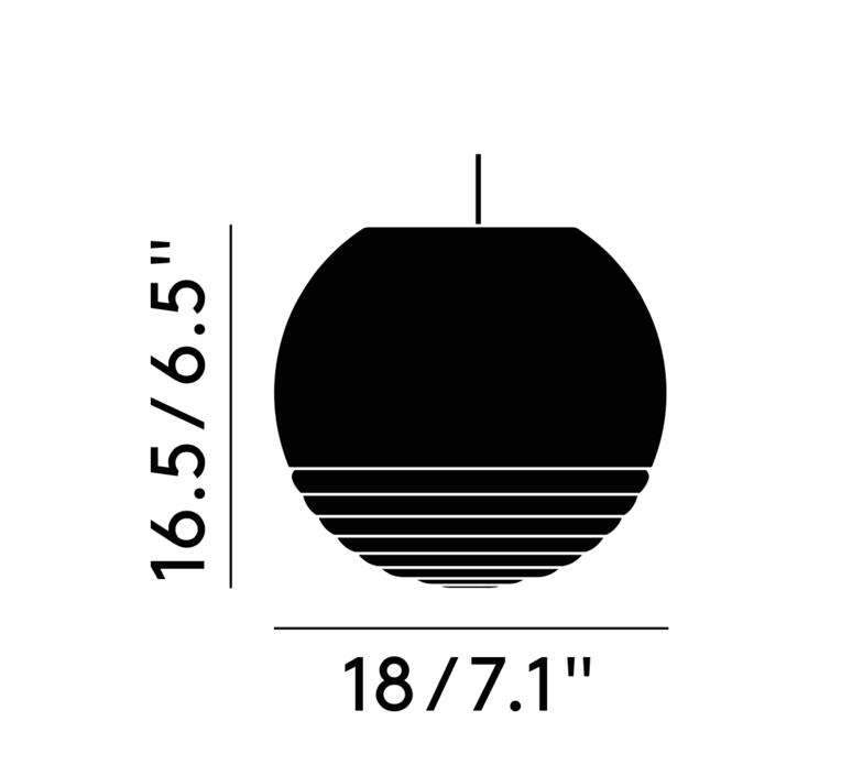 Flask ball tom dixon suspension pendant light  tom dixon fkl01oeu   design signed 39508 product