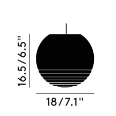 Flask ball tom dixon suspension pendant light  tom dixon fkl01oeu   design signed 39508 thumb