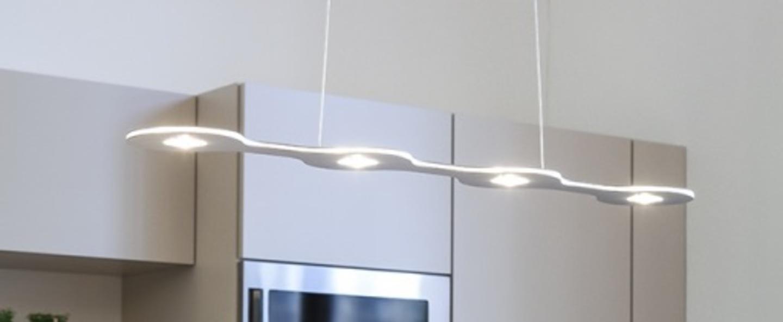 Suspension flat 04 led aluminium l80cm lumen center italia normal
