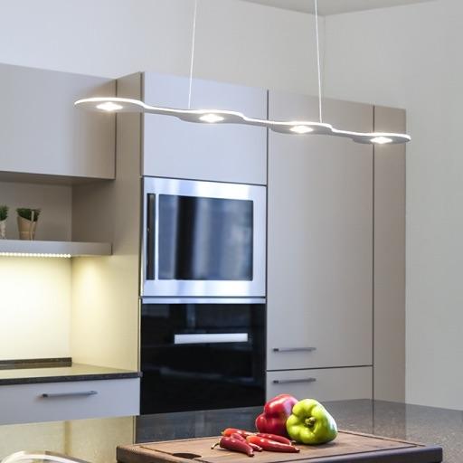 suspension flat 04 led aluminium l80cm 3000k 2500lm lumen center italia luminaires. Black Bedroom Furniture Sets. Home Design Ideas