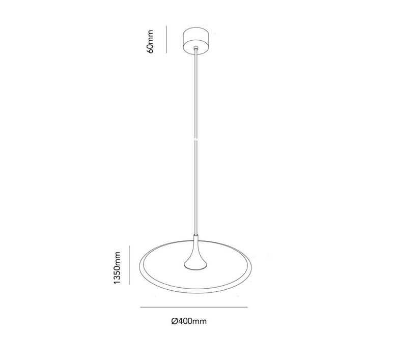 Flat ronni gol suspension pendant light  light point 280400  design signed 41267 product