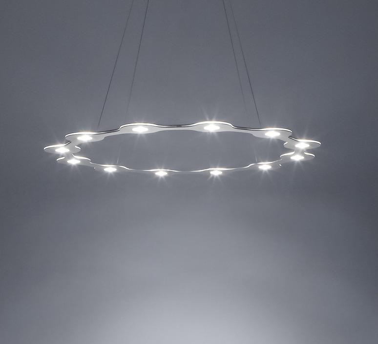 Flat ring 12 villa tosca suspension pendant light  lumen center italia flar1217227t  design signed 52738 product