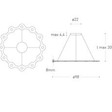 Flat ring 12 villa tosca suspension pendant light  lumen center italia flar1217227t  design signed 52747 thumb