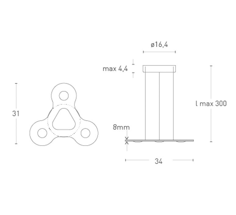 Flat ring 3 villa tosca suspension pendant light  lumen center italia flar317227t  design signed 52704 product