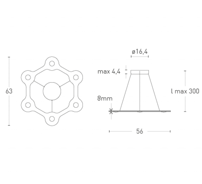 Flat ring 6 villa tosca suspension pendant light  lumen center italia flar613127t  design signed 52727 product