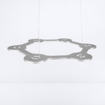 Suspension flat ring 6 argent led l56cm hcm lumen center italia normal