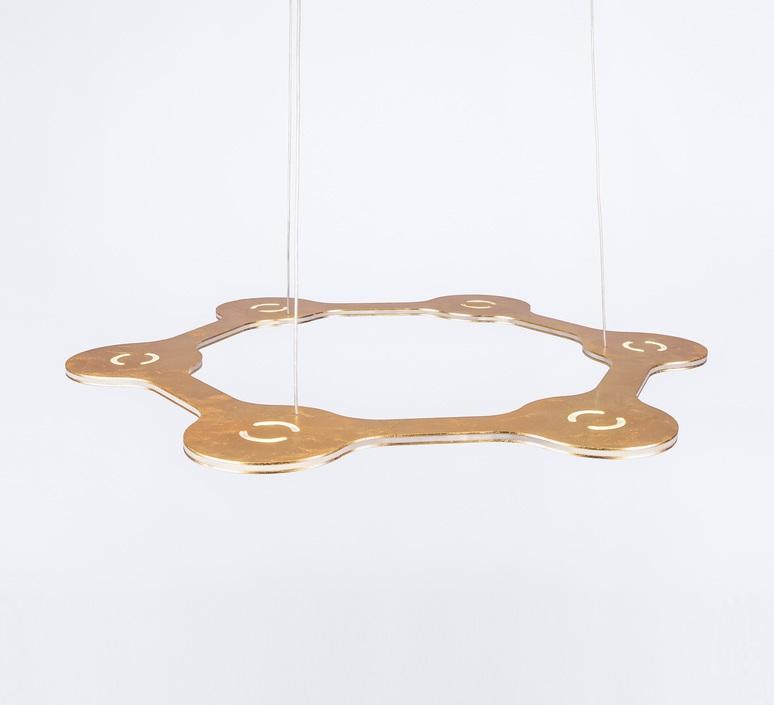 Flat ring 6 villa tosca suspension pendant light  lumen center italia flar613027t  design signed 52722 product