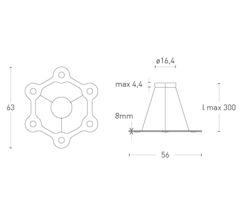 Flat ring 6 villa tosca suspension pendant light  lumen center italia flar613027t  design signed 52723 product