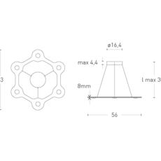 Flat ring 6 villa tosca suspension pendant light  lumen center italia flar613027t  design signed 52723 thumb