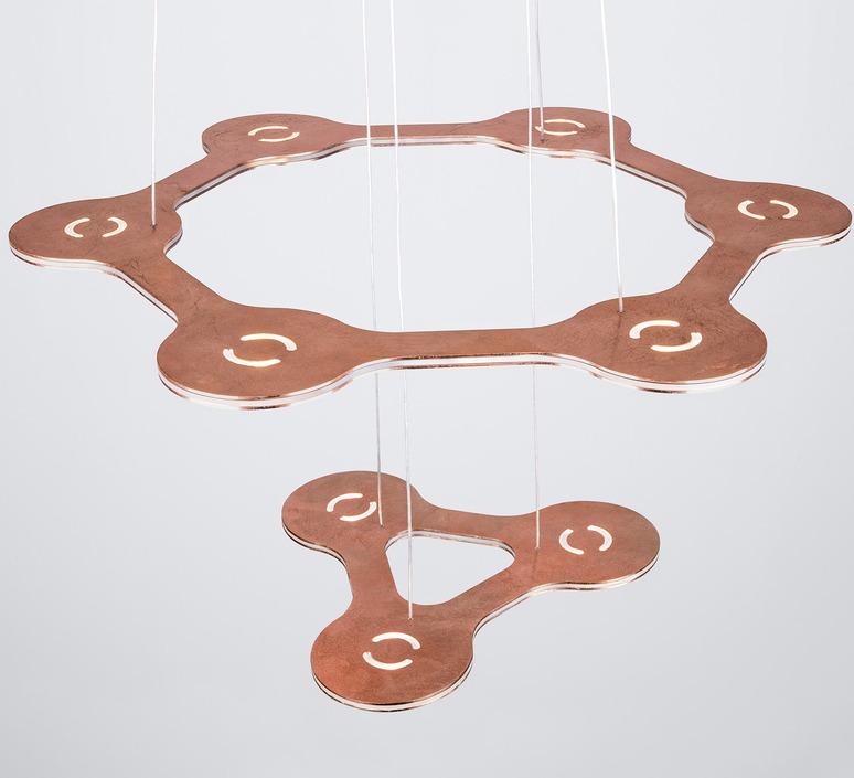 Flat saturn 1 villa tosca suspension pendant light  lumen center italia flas113227t  design signed 52762 product