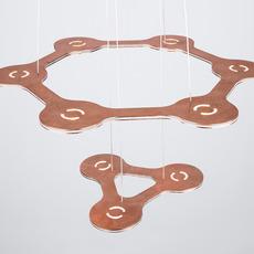 Flat saturn 1 villa tosca suspension pendant light  lumen center italia flas113227t  design signed 52762 thumb