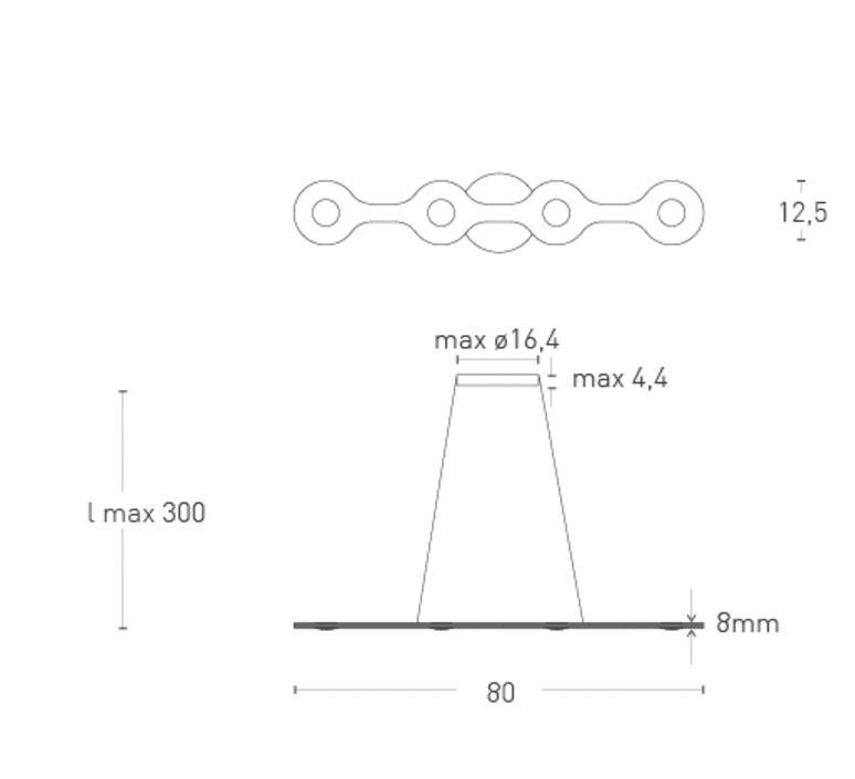 Flat triac 4 villa tosca suspension pendant light  lumen center italia fla0417227t  design signed 52655 product