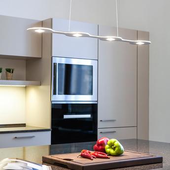 Suspension flat triac 4 aluminium led l80cm hcm lumen center italia normal