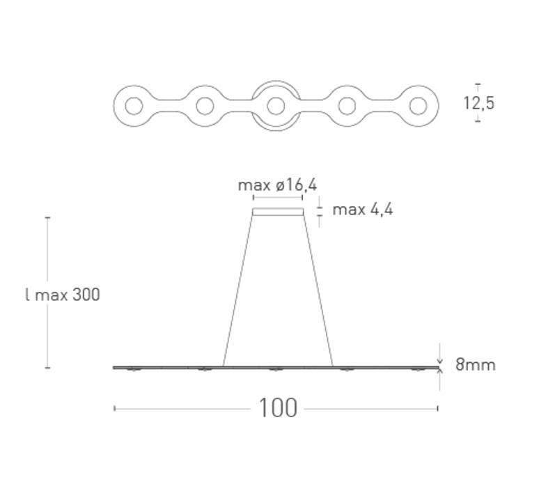 Flat triac 5 villa tosca suspension pendant light  lumen center italia fla0513127t  design signed 52679 product