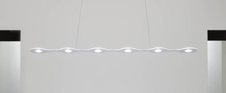 Suspension flat triac 6 aluminium led l120cm hcm lumen center italia normal