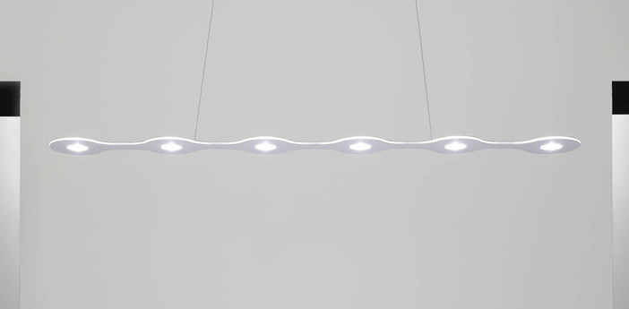 Suspension flat triac 6 aluminium led l120cm hcm lumen center italia normal