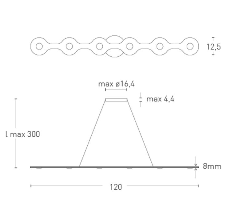 Flat triac 6 villa tosca suspension pendant light  lumen center italia fla0610527t  design signed 52686 product