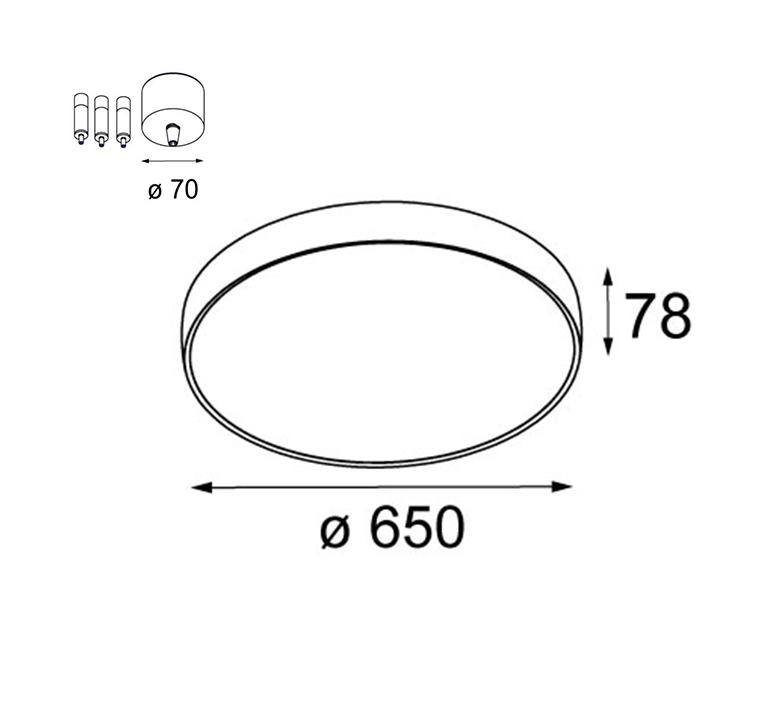 Flatmoon 650 down studio modular suspension pendant light  modular 13304509 11061909  design signed nedgis 124641 product