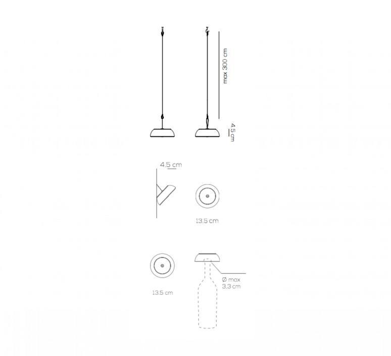 Float mario alessiani suspension pendant light  axolight spfloatxneneled  design signed nedgis 92668 product