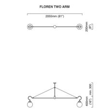 Floren 2 bras chris et clare turner suspension pendant light  cto lighting cto 01 075 0001  design signed 48308 thumb