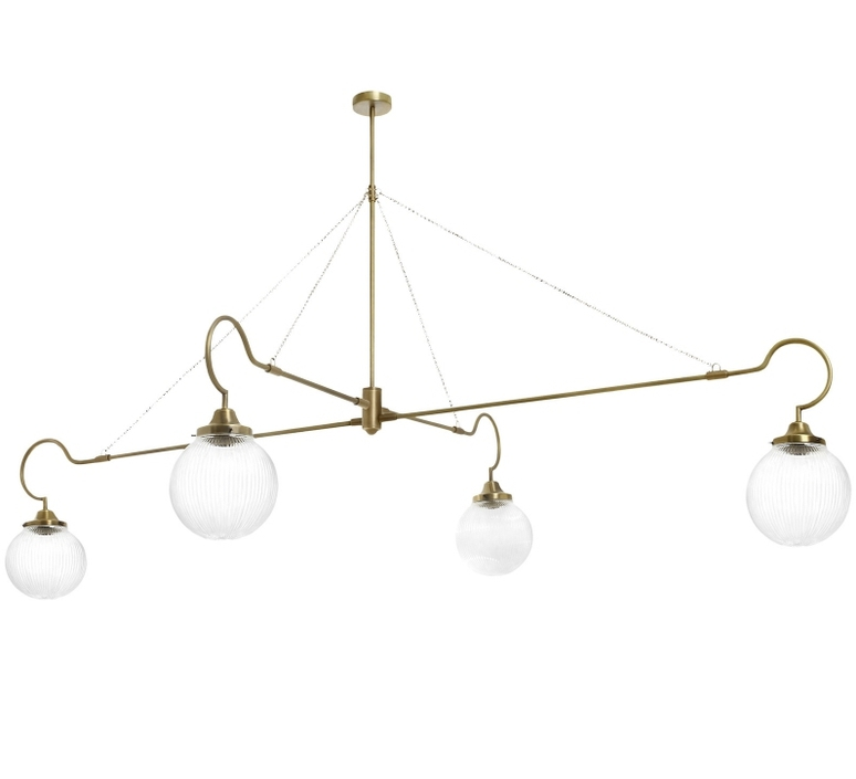Floren 4 bras chris et clare turner suspension pendant light  cto lighting cto 01 075 0002  design signed 48311 product