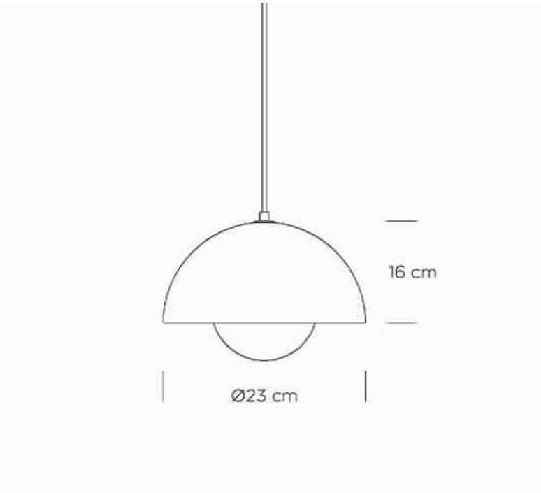 Flowerpot vp1 verner panton andtradition 20709501 luminaire lighting design signed 27106 product