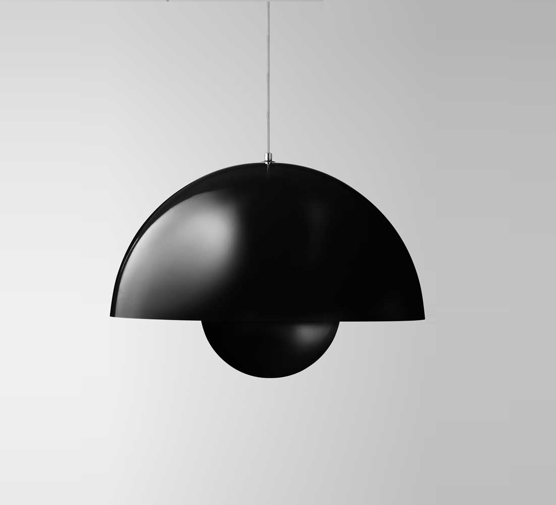 suspension flowerpot vp1 noir mat 23cm andtradition luminaires nedgis. Black Bedroom Furniture Sets. Home Design Ideas