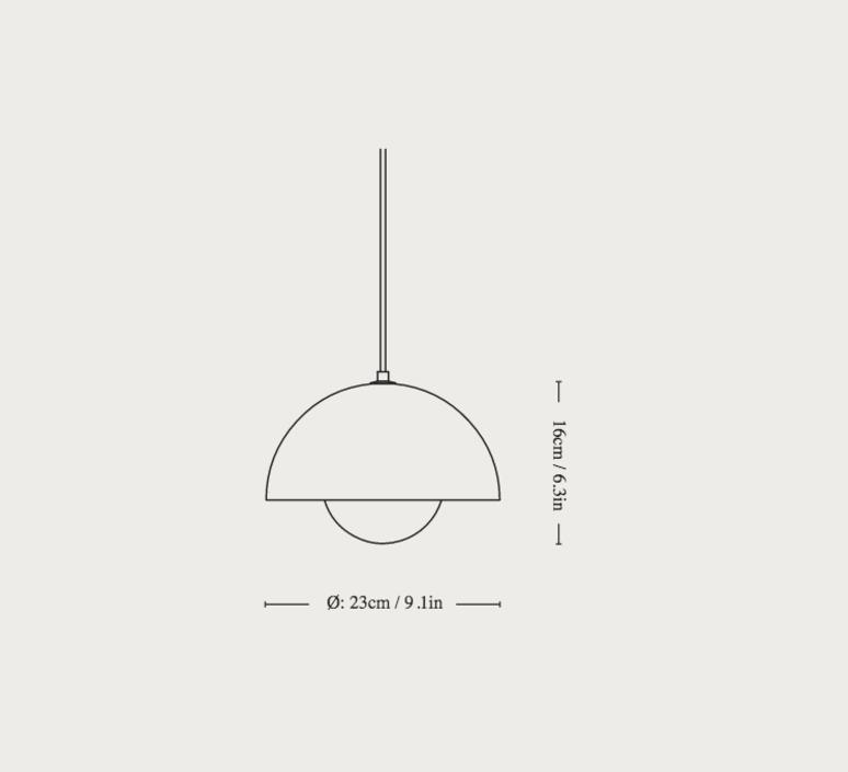 Flowerpot vp1 verner panton suspension pendant light  andtradition 20709201  design signed nedgis 126853 product