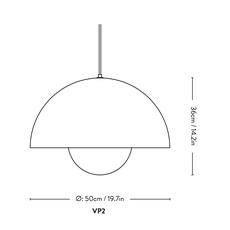 Flowerpot vp2 verner panton suspension pendant light  andtradition 207630  design signed nedgis 88254 thumb
