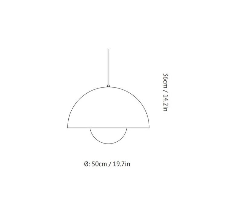 Flowerpot vp2 verner panton suspension pendant light  andtradition 207695  design signed 56847 product