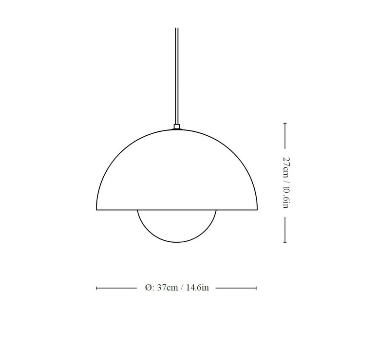 Flowerpot vp1 verne panton andtradition 20704301 luminaire lighting design signed 87906 product