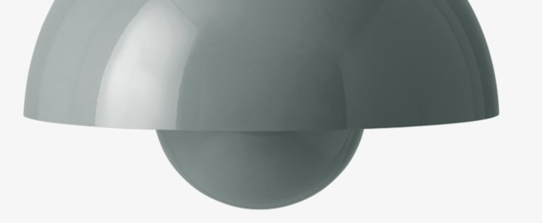 Suspension flowerpot vp7 stone blue o37cm h27cm andtradition normal