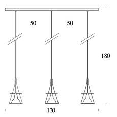 Flute 3 franco raggi fontanaarte 3337 3 luminaire lighting design signed 20176 thumb