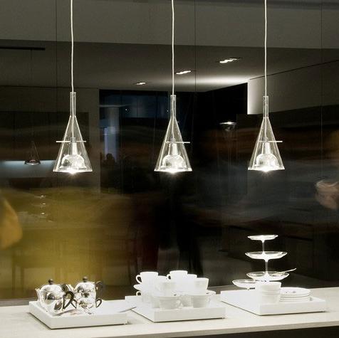 suspension fl te 3 transparent l130cm fontana arte luminaires nedgis. Black Bedroom Furniture Sets. Home Design Ideas