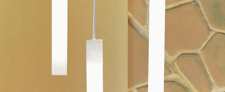 Suspension flux hanging blanc led 3000k o5cm h64cm slide normal