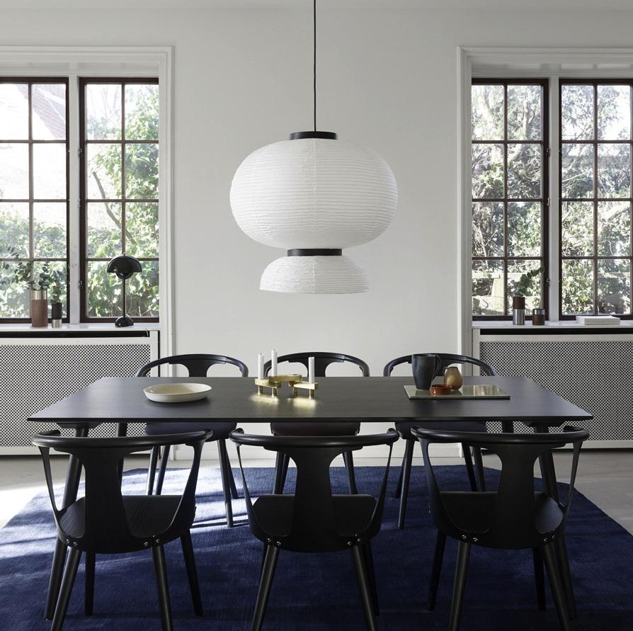 suspension formakami jh5 blanc noir 70cm h67cm andtradition luminaires nedgis. Black Bedroom Furniture Sets. Home Design Ideas
