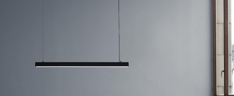 Suspension fornell noir led l120cm h6cm andtradition normal