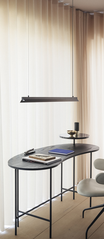 Suspension fornell noir led l120cm h6cm andtradition normal