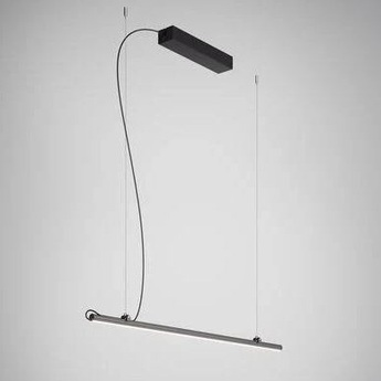 Suspension freeline noir led 3000k l100cm h2 3cm fabbian normal