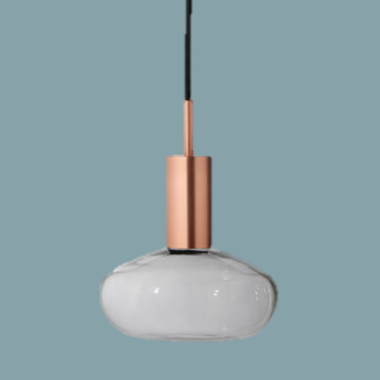 Suspension gambi copper and clear cuivre o25cm h32cm eno studio normal