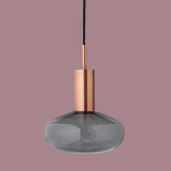 Suspension gambi copper and smoke cuivre o25cm h32cm eno studio normal